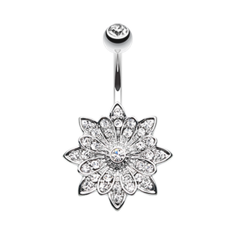 Flower Enchant Belly Button Ring Navel Ring Body Jewelry - BodyDazzle