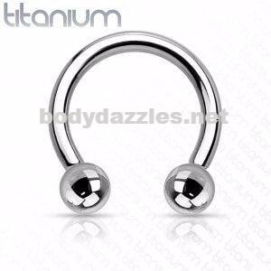 Internally Threaded Grade 23 Solid Titanium Horseshoe/Circular Barbells