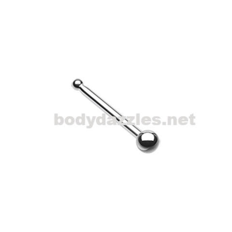 Round Steel Ball Top Basic Steel Nose Stud Ring 20ga Body Jewelry