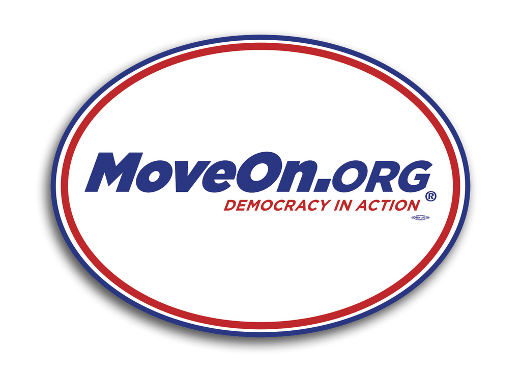 MoveOn.org: Democracy in Action: Oval Magnet
