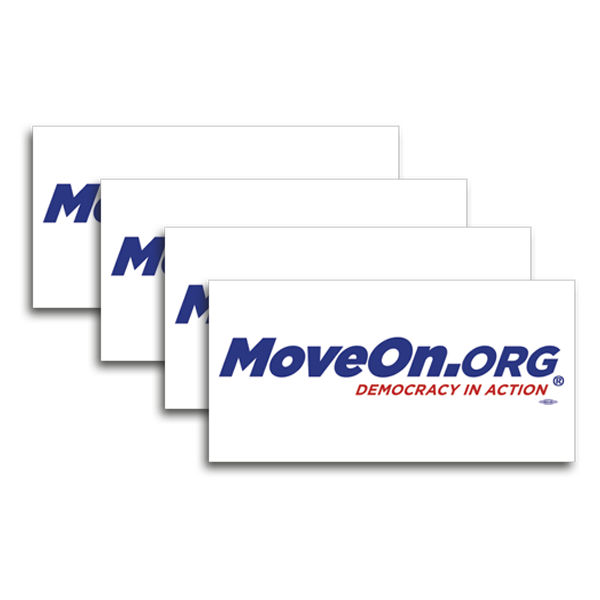 MoveOn.org: Democracy in Action: Pack of Four Stickers