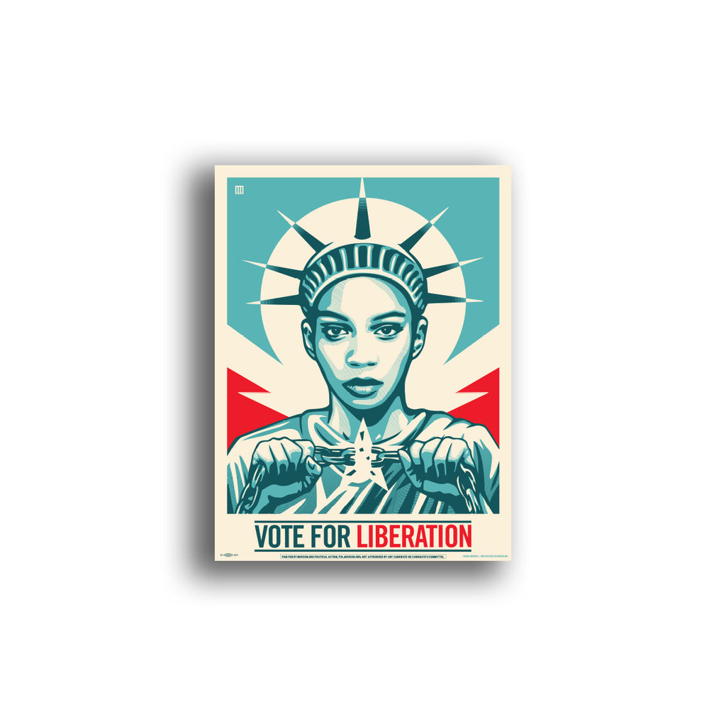 Poster: Vote For Liberation