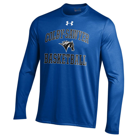 Under Armour NuTech Basketball Long-Sleeve Shirt, in Royal