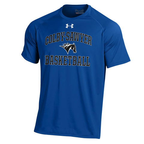 Under Armour NuTech Basketball Short-Sleeve Shirt, in Royal