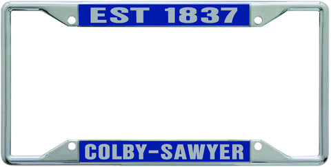 License Plate Frame: Colby-Sawyer Est. 1837