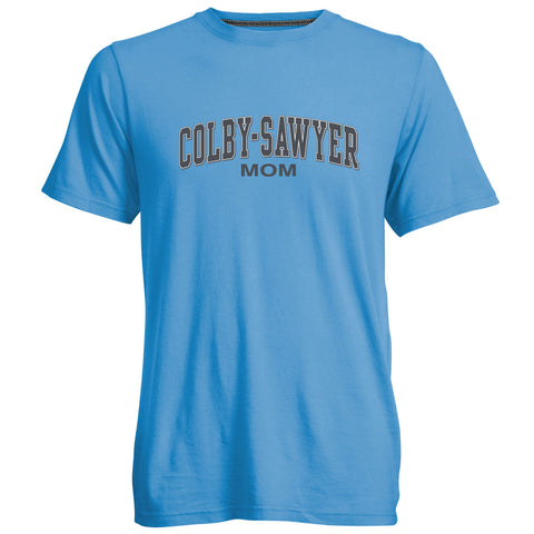 Colby-Sawyer Mom Tee in True Blue