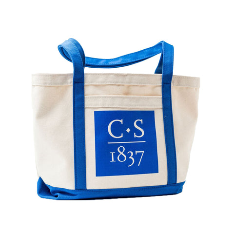 Canvas Boat Bag with CS 1837 in Royal
