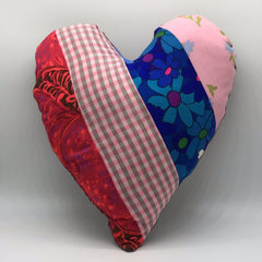 Pink Striped Heart Pillow