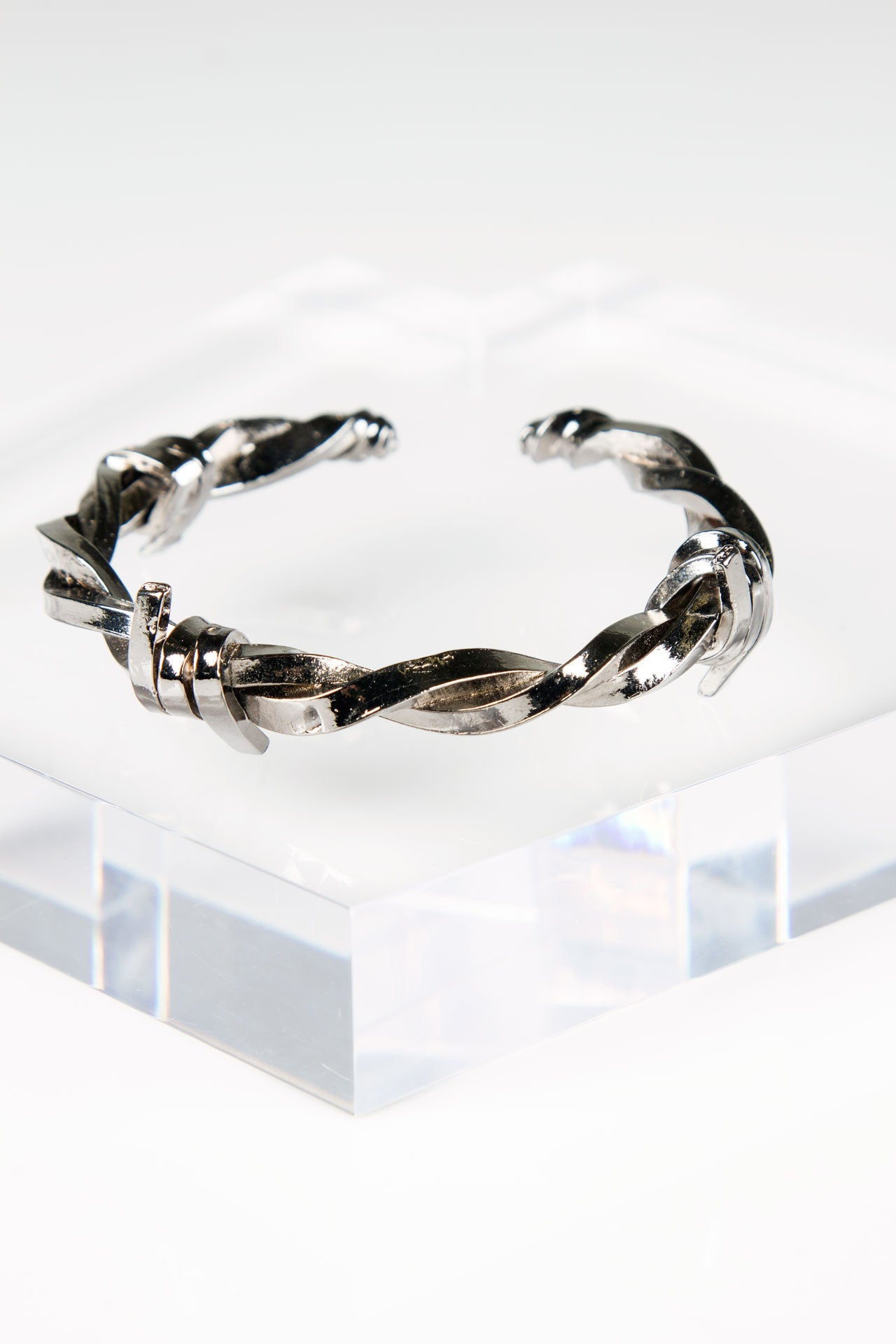 Barbwire Bangle - Black Rhodium
