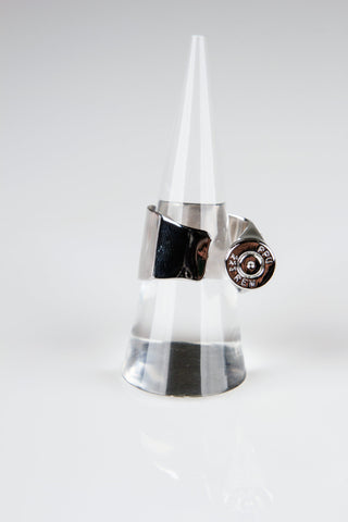 small casing Bullet Ring - Silver