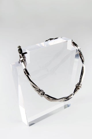 Barbed Wire Necklace - Rhodium