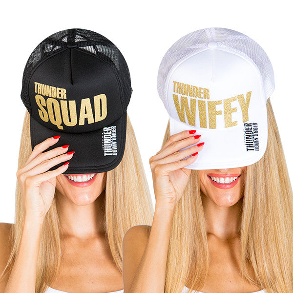 "Trucker Hats ""Thunder Wifey"" and ""Thunder Squad"""
