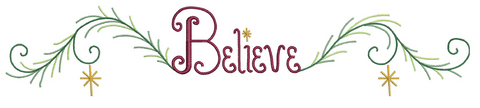 Believe Pillowcase Cuff