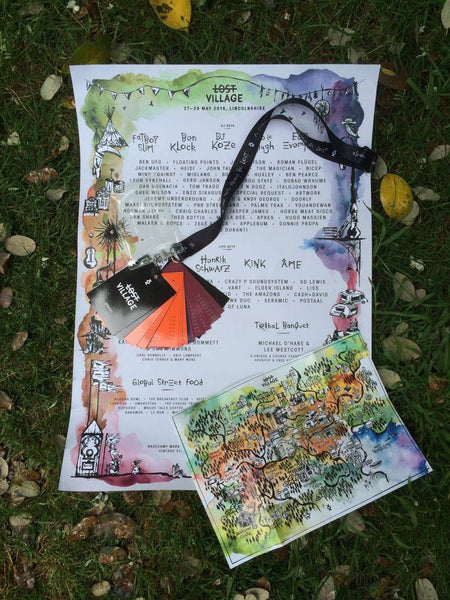 Lost Village 2016 Deluxe Print Poster & Lost Village 2016 Programme Lanyard + Village Map
