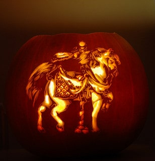 Carousel Horse Pumpkin Carving for Halloween