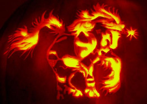 Gypsy Horse Pumpkin Carving for Halloween