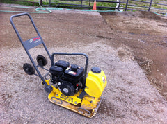plate compactor for horse paddock footing