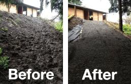 Before and After Lighthoof mud management panels.