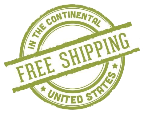 Free shipping in the continental United States.