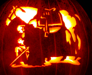 Washington's Horse Pumpkin Carving for Halloween