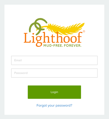 Lighthoof Ambassador Login Screen