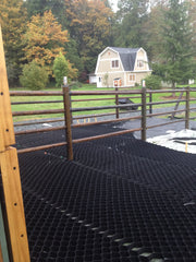 Lighthoof equine mud management panels being installed.