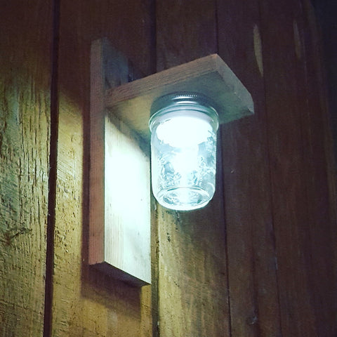 mason jar barn lights #barnhack