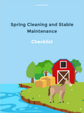 stable and barn spring cleaning checklist