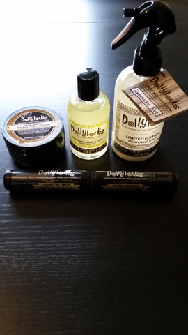 Dollylocks Pomades and Honeysuckle Rose Tightening Spray