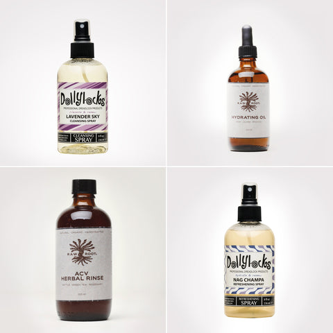 4 Different bottles - Cleansing Hydrating Refreshening And Balancing sprays