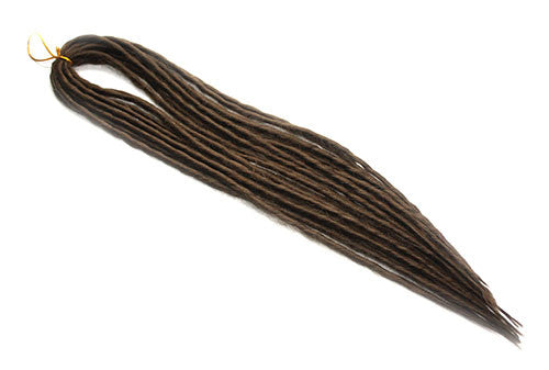 Elysee Star - #10 Lighter Brown Synthetic Dreadlocks (Double Ended) (10 Pack)