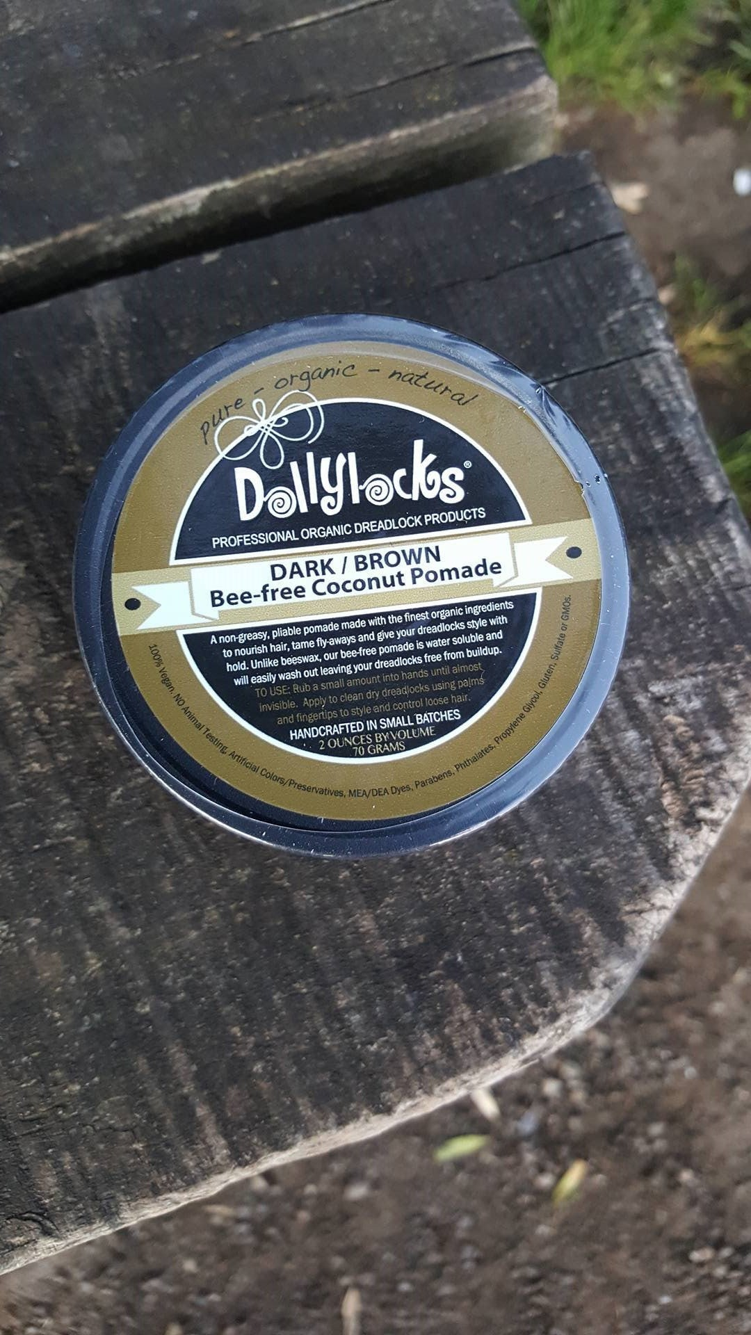 Dollylocks - Dreadlocks Pomade - 'Beeswax Alternative' (Dark/Brown 2oz/66g)
