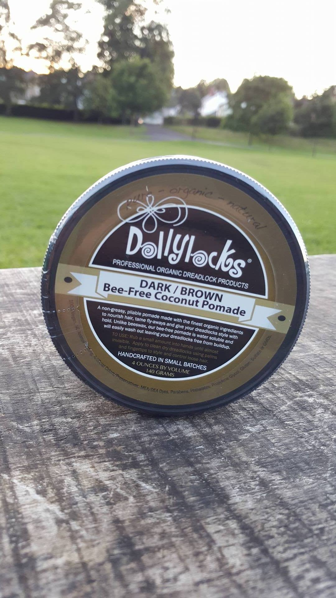 Dollylocks Dreadlocks Pomade 4oz Dark Shoot