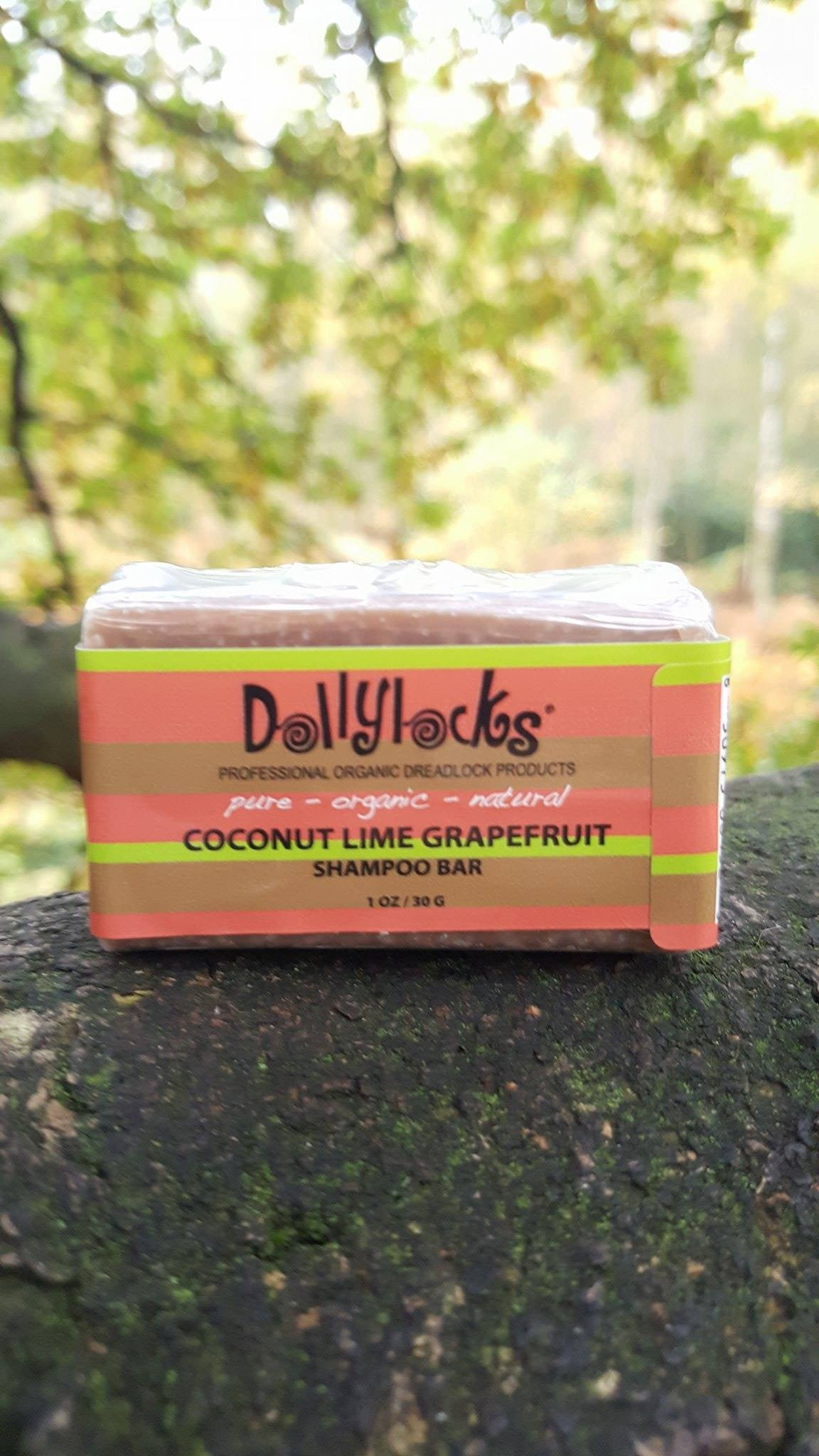 Dollylocks Dreadlocks Shampoo Bar Coconut Lime Grapefruit 1.25oz/Travel Size