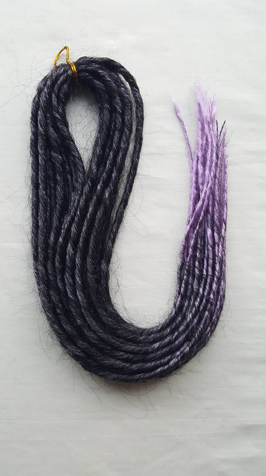 Elysee Star - Black-Purple Transitional Synthetic Dreadlocks (Double Ended) 100g