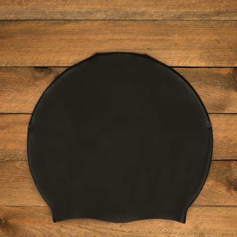 DreadLab Large Plain Black Dreadlocks Swim Cap 2