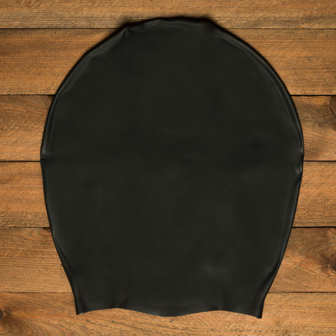 DreadLab Extra Large Plain Black Dreadlocks Swim Cap 2