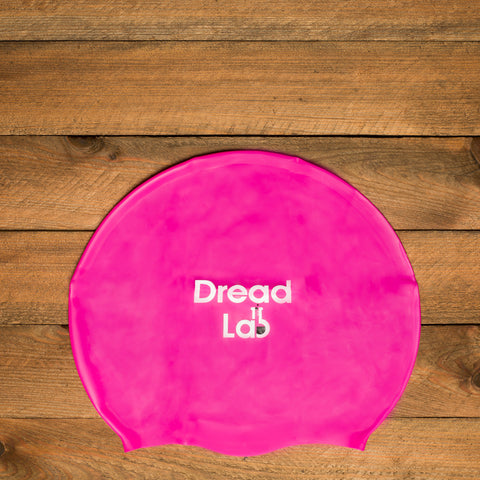 DreadLab Medium Large Swim Cap Shocking Pink 2