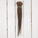 Dreadlab Single Ended Synthetic Dreads Short Brown