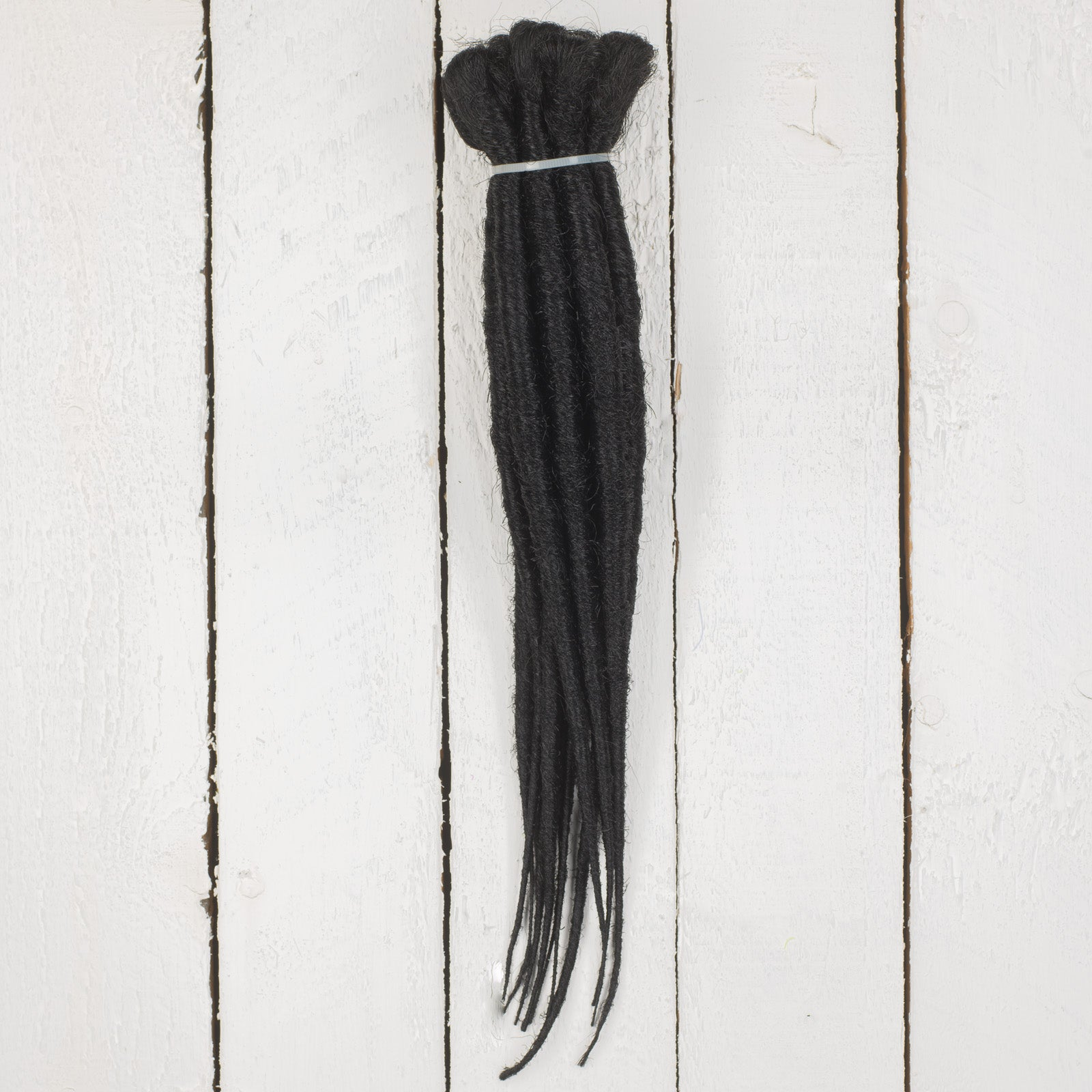 DreadLab -  Short Single Ended Synthetic Dreadlocks (10 Pack) Backcombed Extensions