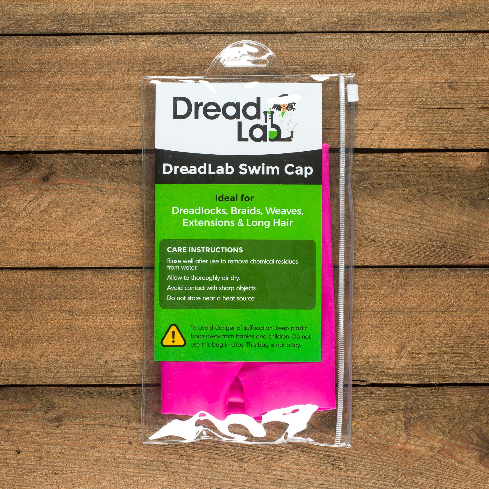 DreadLab - Extra Large Swim Cap (Shocking Pink - Plain) Dreadlocks/Extensions