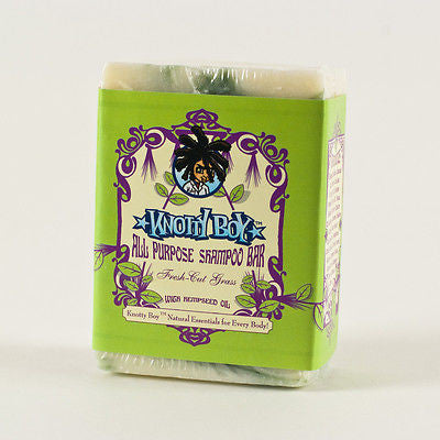 KNOTTY BOY - Fresh Cut Grass - All Purpose Dreadlocks Shampoo Bar 4oz