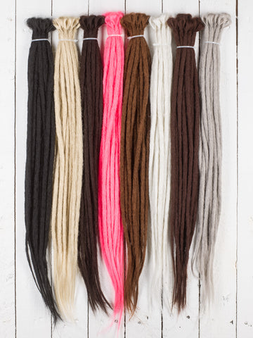 DreadLab - Single Ended Synthetic Dreadlocks (Pack of 10) Crochet Extensions