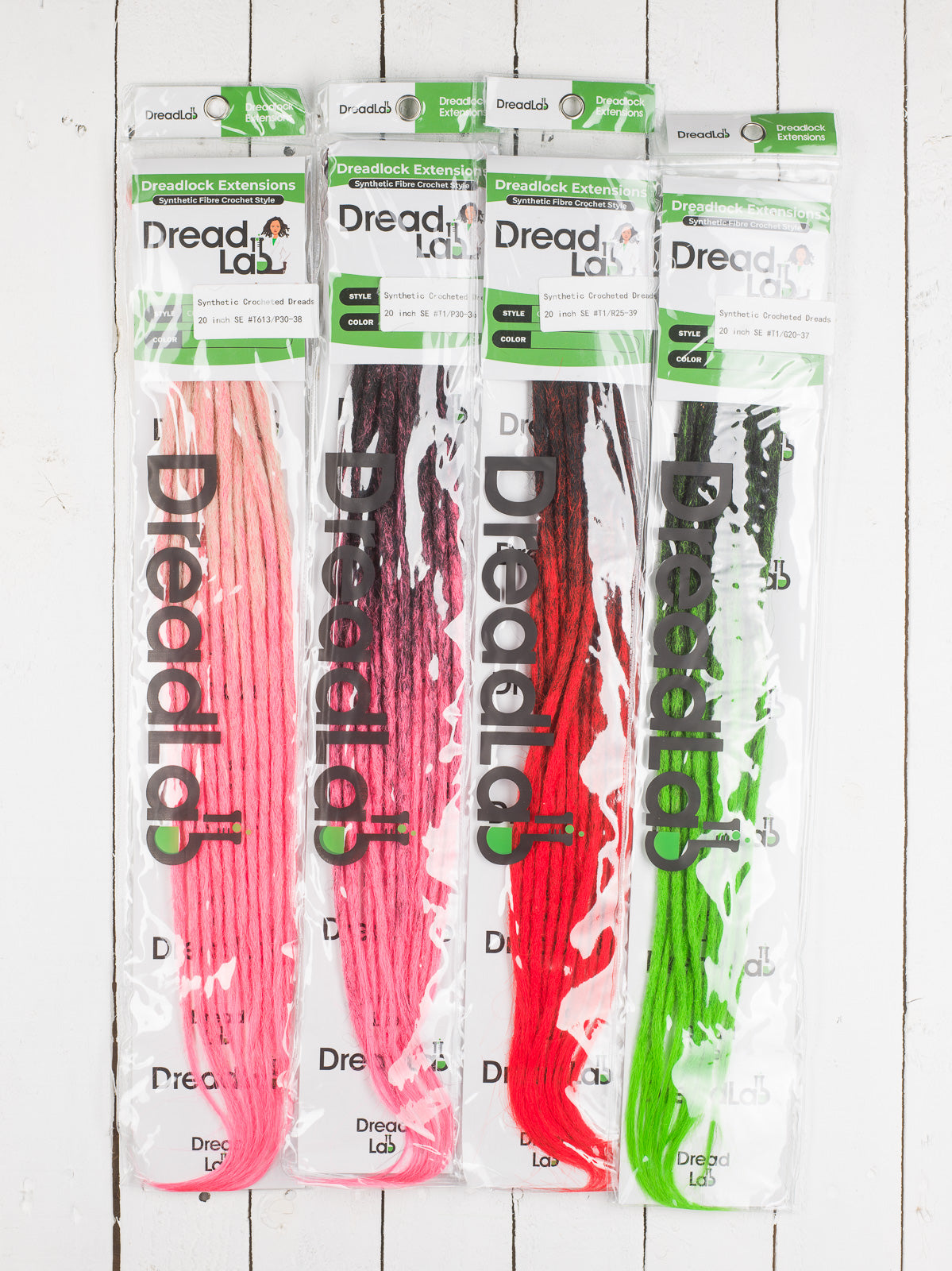 DreadLab - Single Ended Synthetic Dreadlocks (Pack of 10) Ombre Crochet Extensions