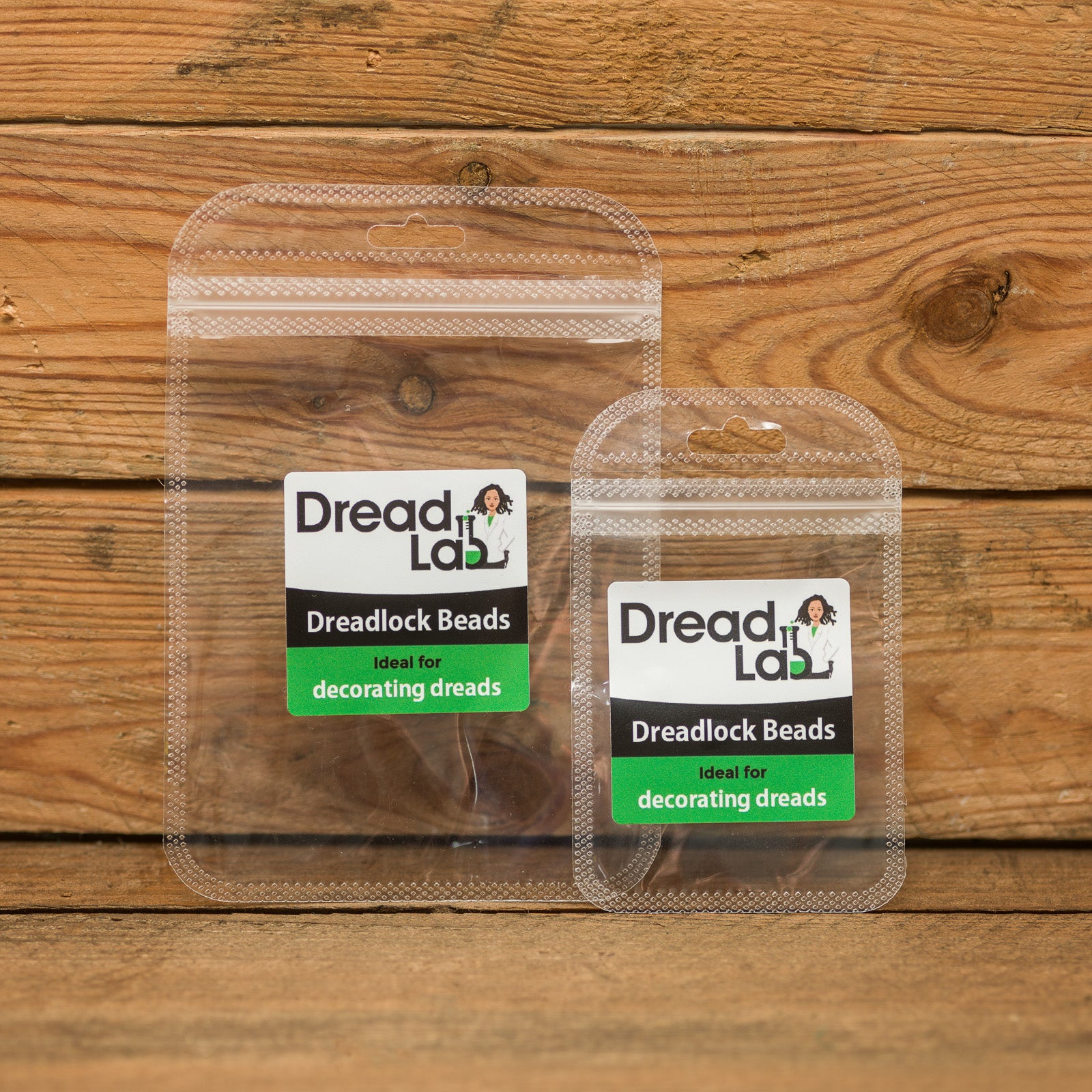 DreadLab - Acrylic Tunnel Dread Beads Wood Colour