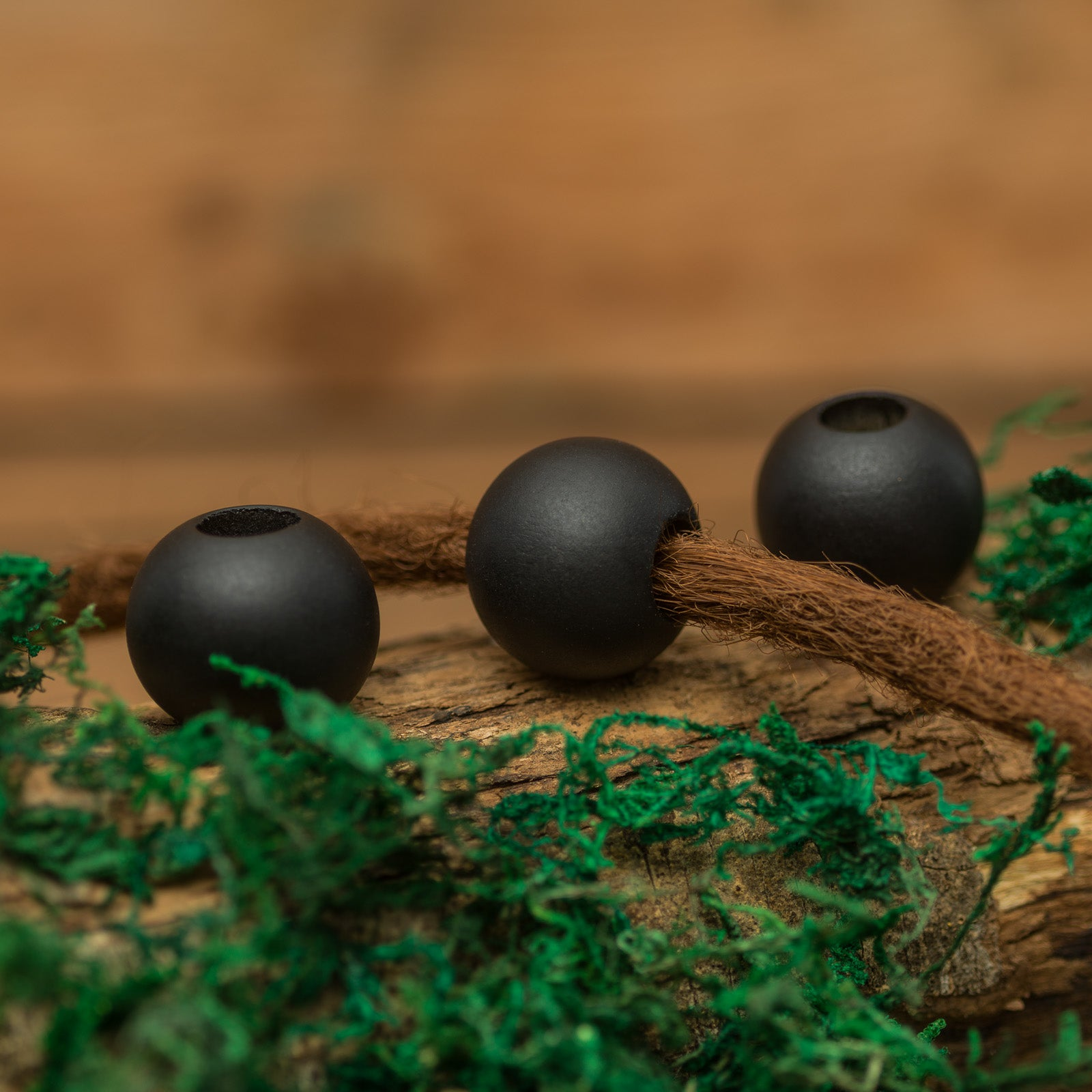 DreadLab - Hinoki Wood Dread Beads Black Colour