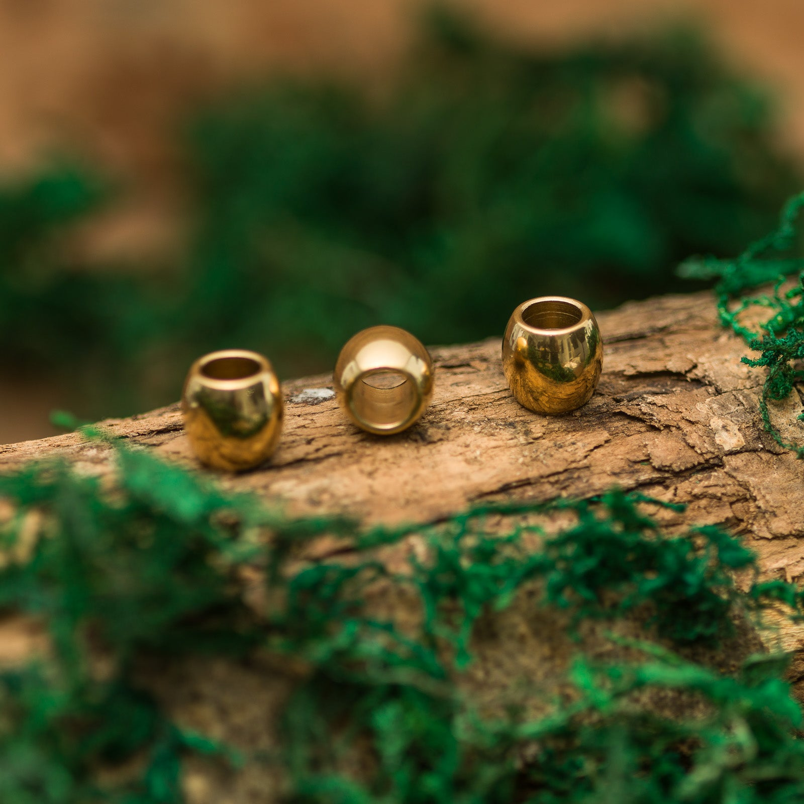 DreadLab - Metal Barrel Dread Beads Gold Colour