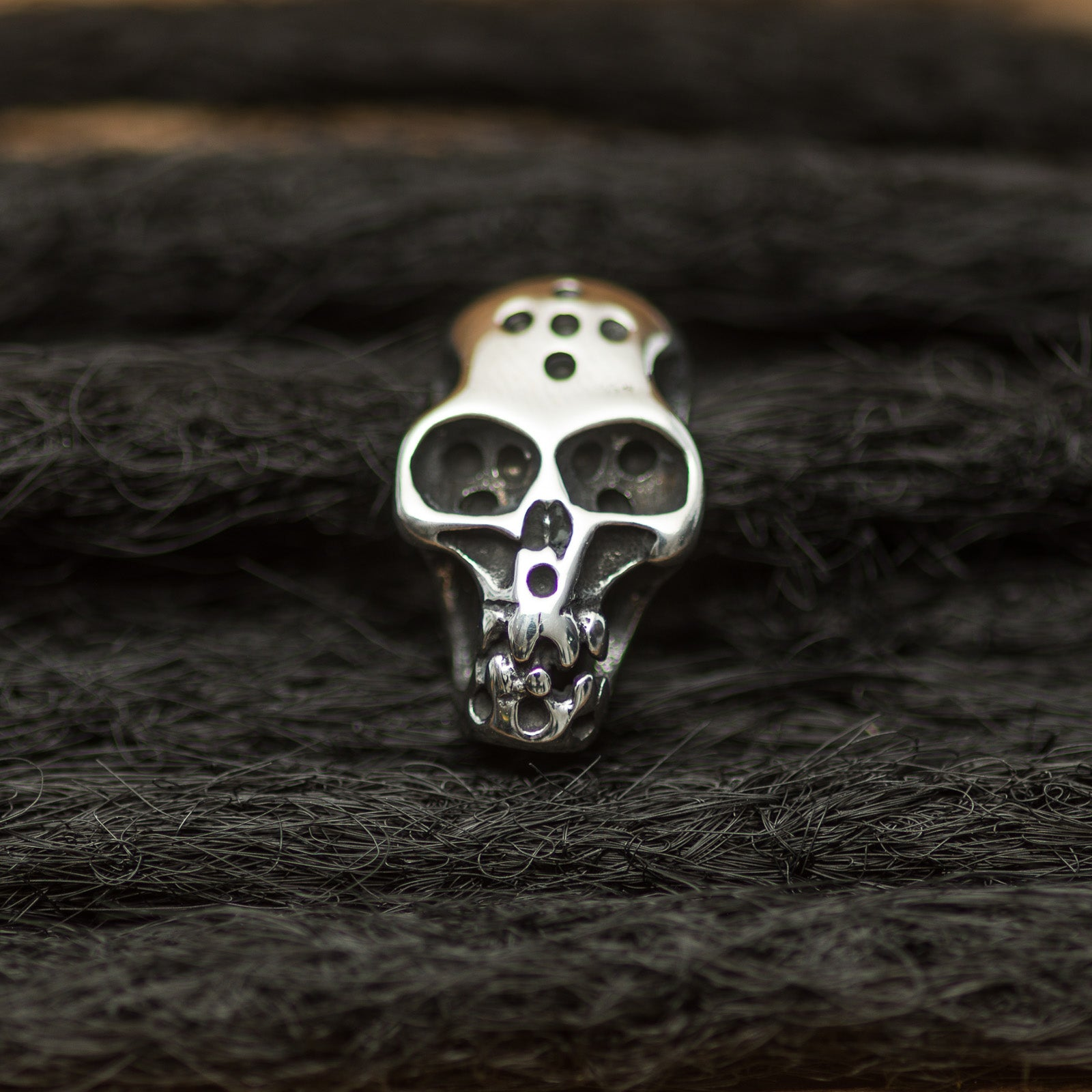 DreadLab - Stainless Steel Skull Dread Beads Silver Colour