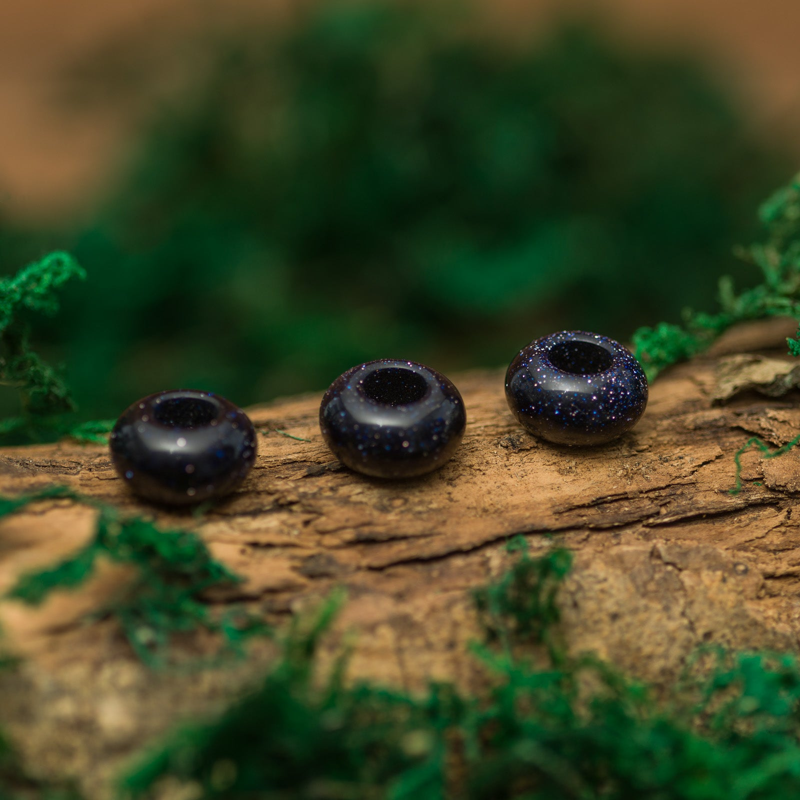 DreadLab - Natural Blue Sand Stone Donut Dread Beads