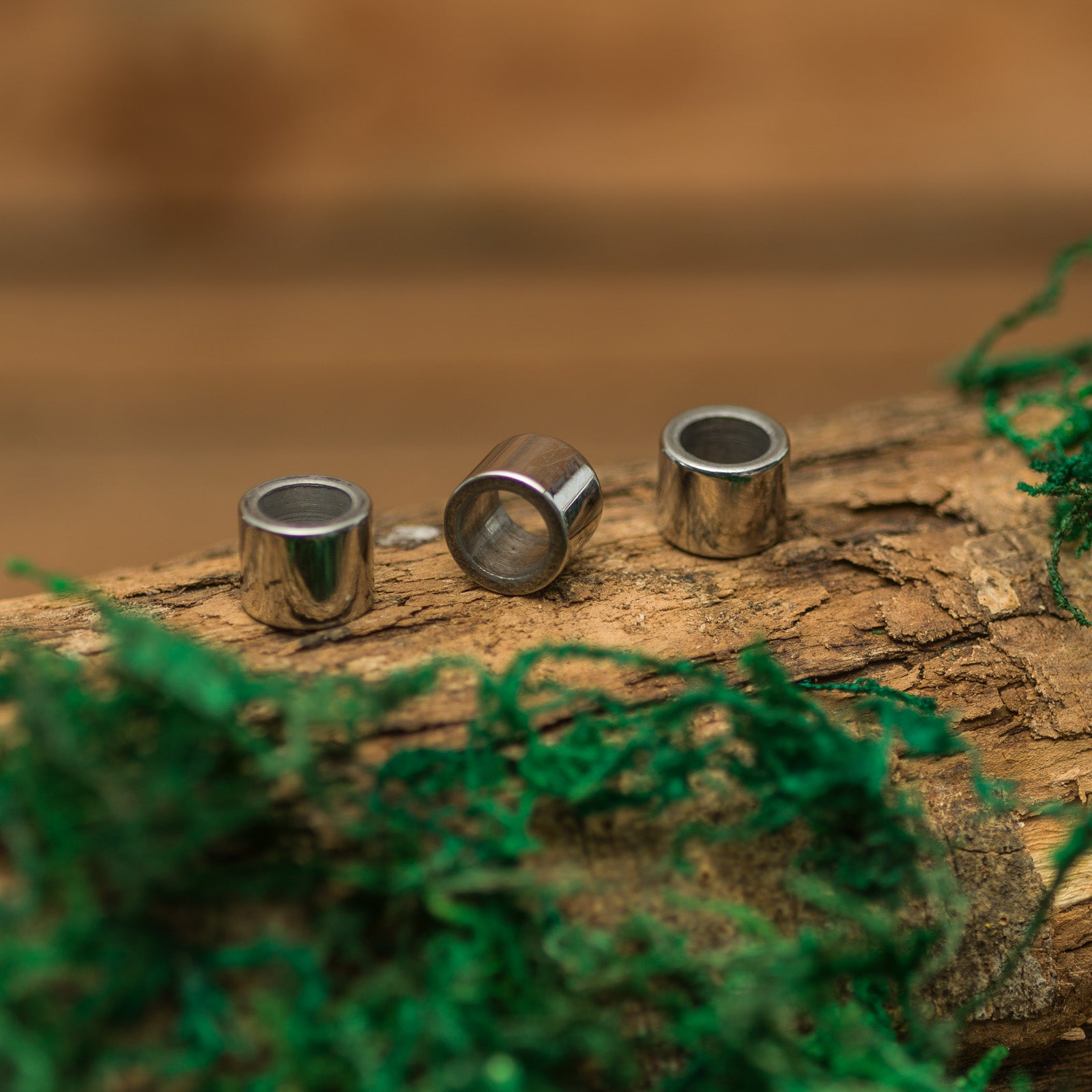 DreadLab - Stainless Steel Cylinder Dread Beads Silver Colour